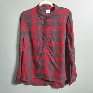 CAbi Cunningham Shirt Hunting Plaid Long Sleeve